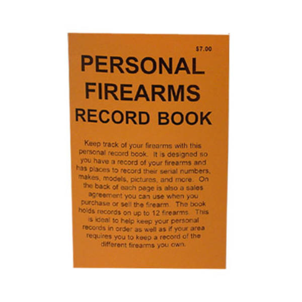 Do Everything Manual Personal Firearms Record Book