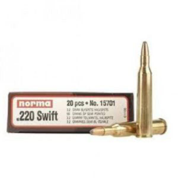 Norma Ammunition 220 Swift 55gr Oryx x20
