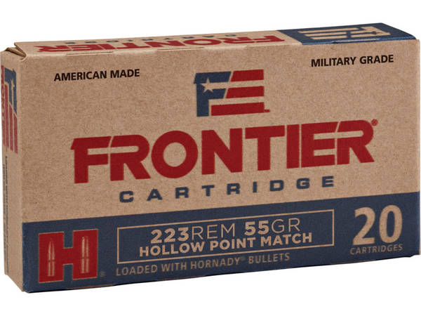 Hornady Frontier Ammunition 5.56 NATO 55gr HPM 77134