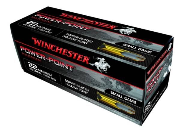 Winchester Power point .22WMR 45gr HP 50 Rounds
