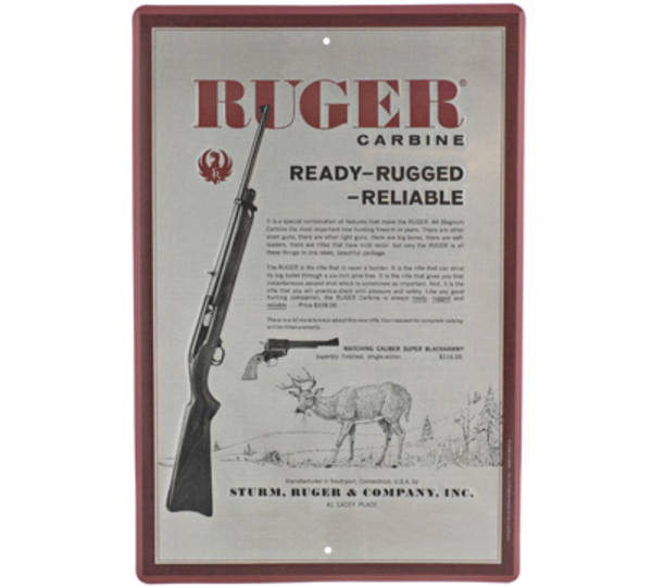Ruger Carbine Tin Sign