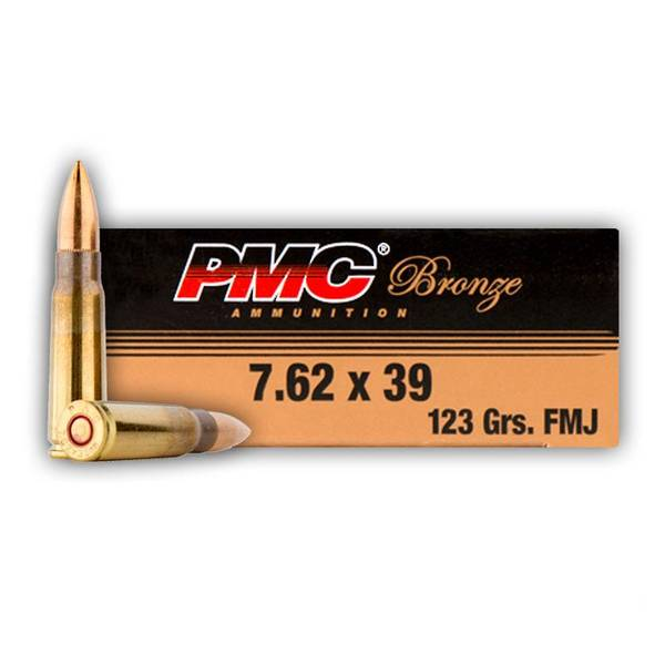 PMC 7.62x39 123gr FMJ x20