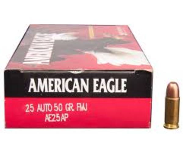 American Eagle 25 Auto 50gr FMJ 50 Rounds