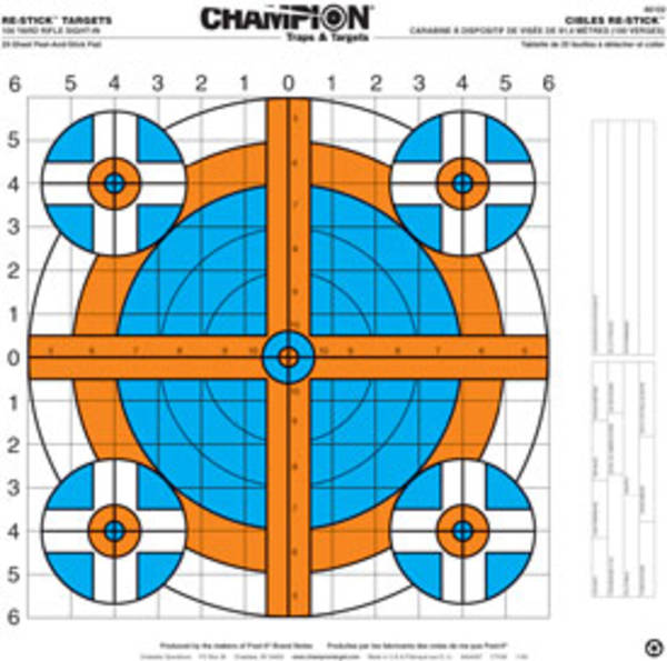 Champion Targets 100 YD Rifle Sight In