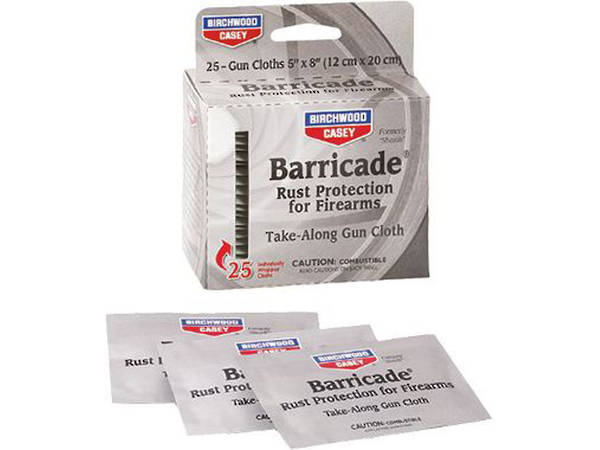 Birchwood Casey Barricade Firearms Cleaning Cloths 25 Pack
