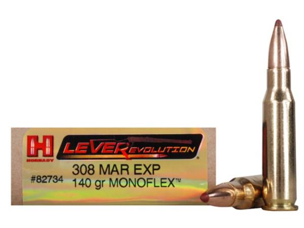 Hornady Leverevolution 308 Marlin Exp 140gr Monoflex 82734