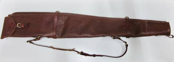 "NZ made Full Leather Shotgun Slips Double Gun 52"""