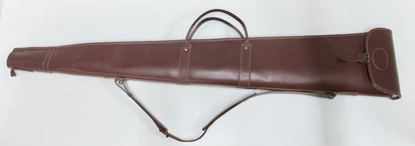 Leather/Wool Padding Shotgun Case 52""
