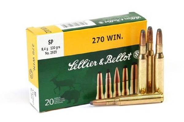 Sellier & Bellot 270win 130gr SP x20