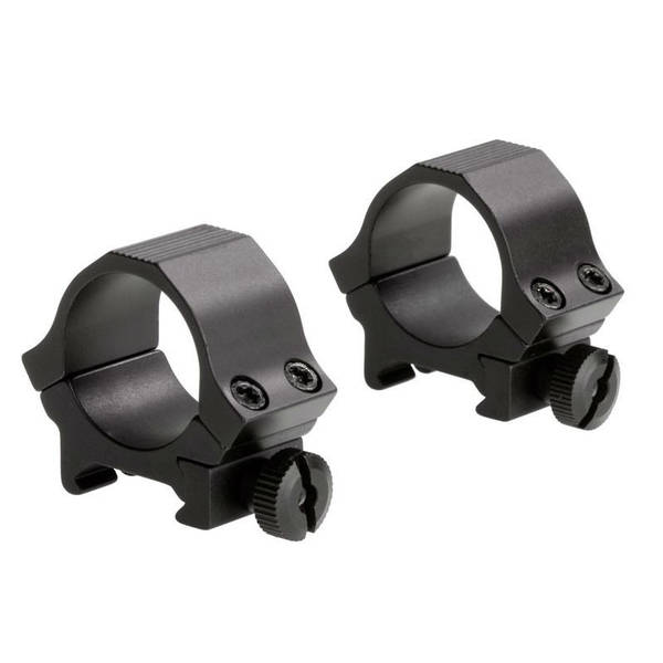 Sun Optics 1' Low Sport Rings Matte Black
