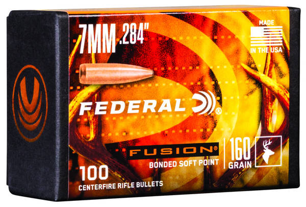 Federal Fusion Projectiles 7mm 160gr x100
