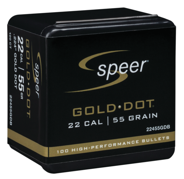Speer Gold Dot 22cal 55gr x100 #22455GDB