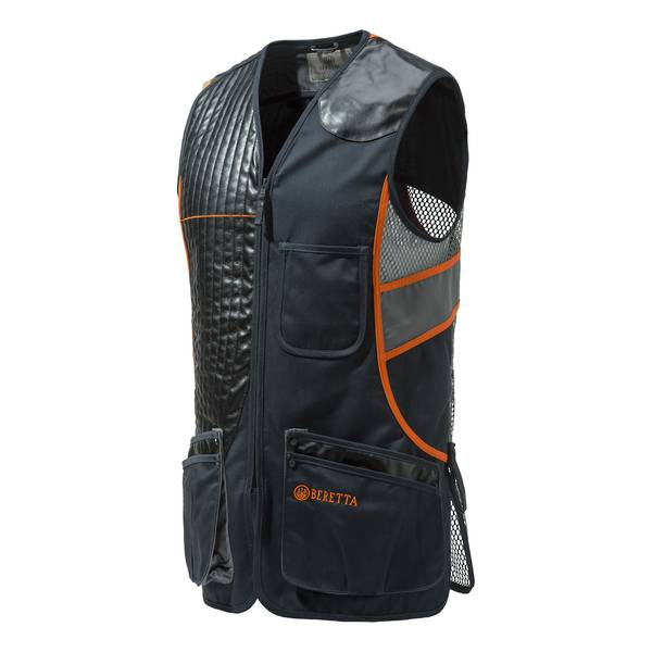Beretta Sporting Vest Black & Orange 3XL