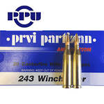 PPU .243 Winchester Ammo 100gr SP 20 Rounds