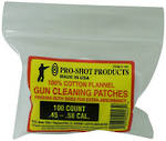 Pro-Shot Back Powder Cleaning Patches 45-58Cal x100