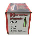 Hornady Match 6mm .243 105gr BTHP Box of 100 #2458
