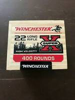 Winchester Super X 22LR 36gr HP Wooden Box 400 Rnds