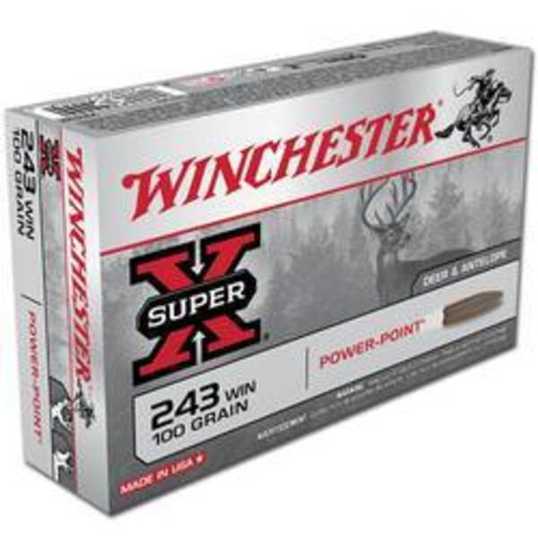 Winchester Super X 243 Win 100gr SP 20 Rounds