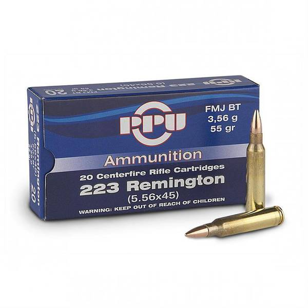 PPU 223 55gr SP 20 Rounds