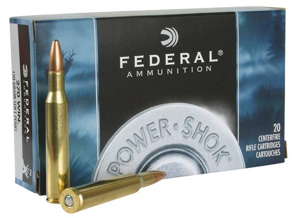 Federal Power Shok 270 Win 130gr