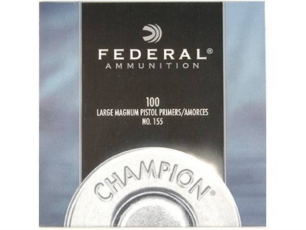 Federal Large Magnum Pistol Primers No 155 Box Of 1000