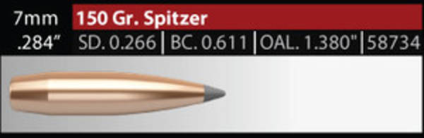 Nosler Accubond Long Range 7mm 150 grain
