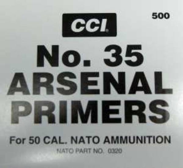 CCI 50 BMG Primers No35 Box of 100