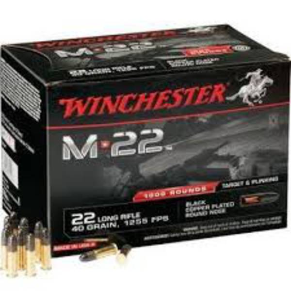 Winchester M22LR 40gr Round Nose 500 Rounds
