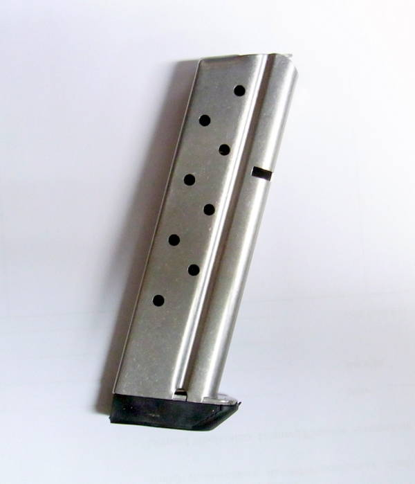 Springfield 1911 9mm 9 rnd magazine with bumper, silver finish