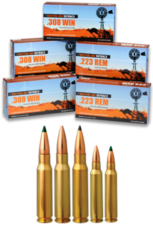 Australian Outback Ammo 223 Remington 69gr SMK 20 Rounds