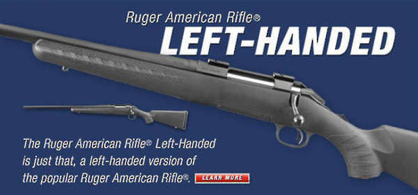 Ruger American 223 Rem Left Hand Blued