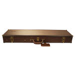 Birchwood Casey Deluxe Leather U/O Takedown Case-Brown