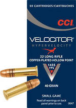 CCI Velocitor 22LR 50 Rounds