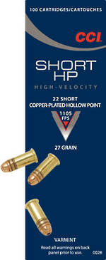 CCI 22 Short HP 100 Rounds